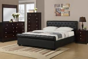 bedroom f 9246 black faux leather bed discounted furniture