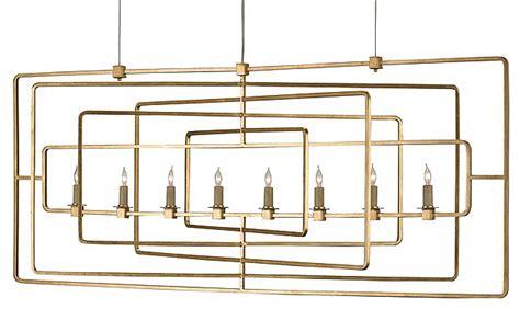 Modern Rectangular Chandelier Lighting Contemporary Gold Rectangular Chandelier The Designer