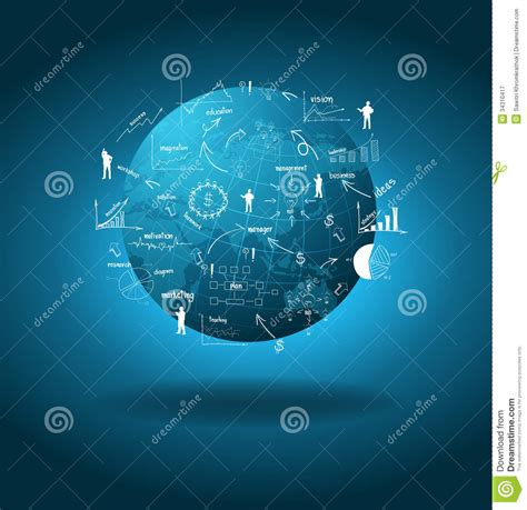global plan vector global business economy concept royalty free stock