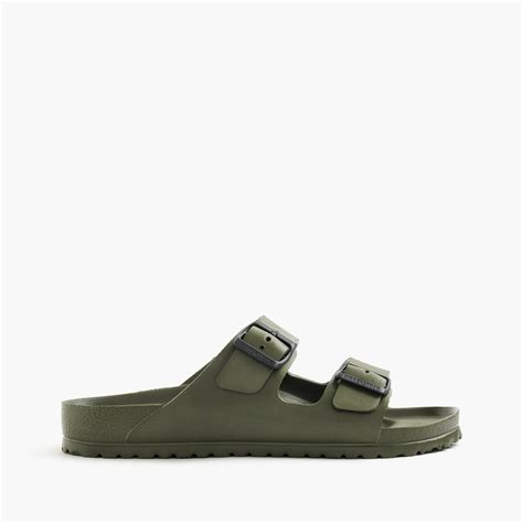 waterproof birkenstock sandals j crew birkenstock arizona waterproof sandals in green