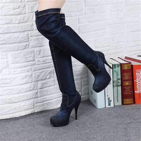 thigh high biker boots yu boots