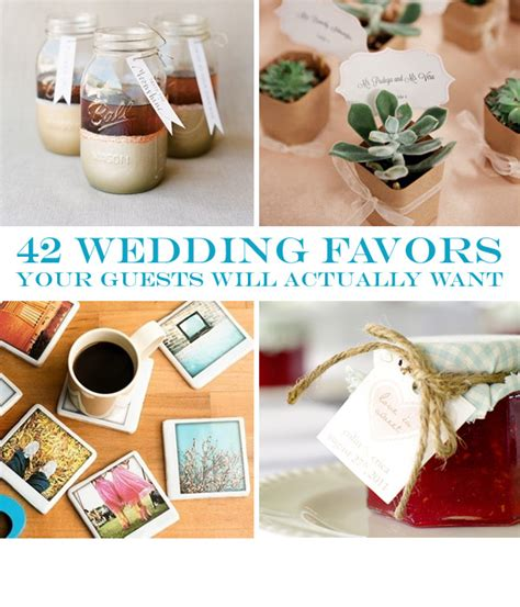 favors for wedding guests ideas 42 wedding favors your guests will actually want diy