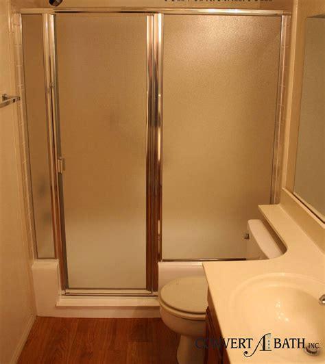 cut bathtub into shower notch cuts with doors convertabath 174