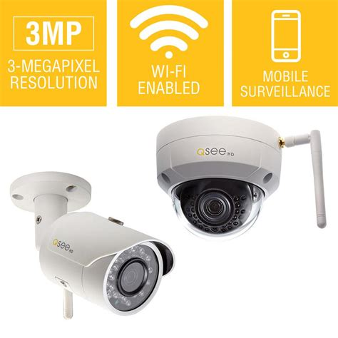 q see 3mp wi fi indoor outdoor bullet and dome security