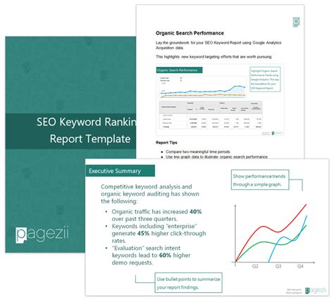 Seo Ranking Report Template Seo Keyword Ranking Ranking Report Template Pagezii