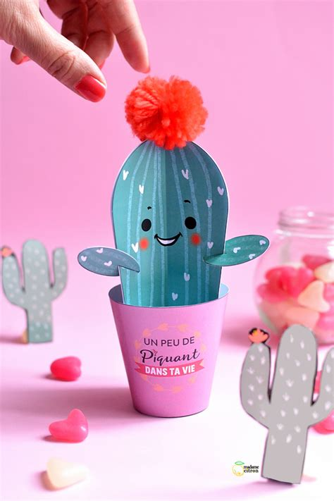 fabriquer un canapé soi meme diy cactus en papier pour la valentin madame