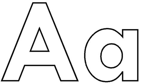 letter a coloring pages printable image download now for