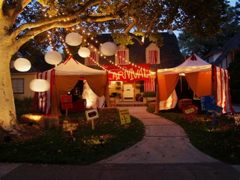 creepy carnival tents   outdoor halloween theme hgtv