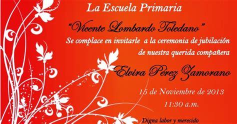 Obral Besar S A A D A H el de rojita invitacion para la ceremonia de jubilacion