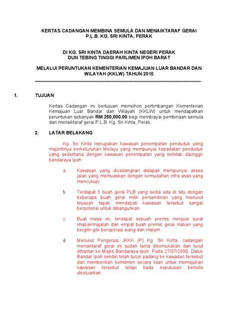 contoh laporan justifikasi format penyediaan kertas cadangan projek pn ashida