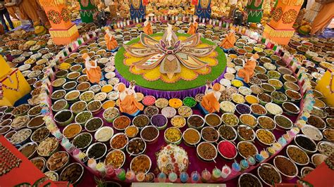 annakut food ceremony to see in the hindu new year