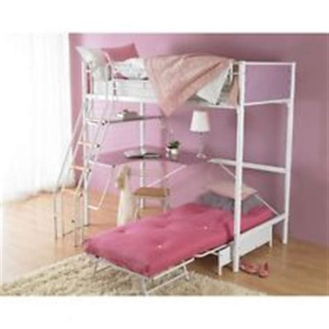 Metal Cabin Bed With Desk by Metal Bunk Bed With Desk Ebay