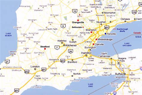 printable road maps ontario travel pix southern ontario