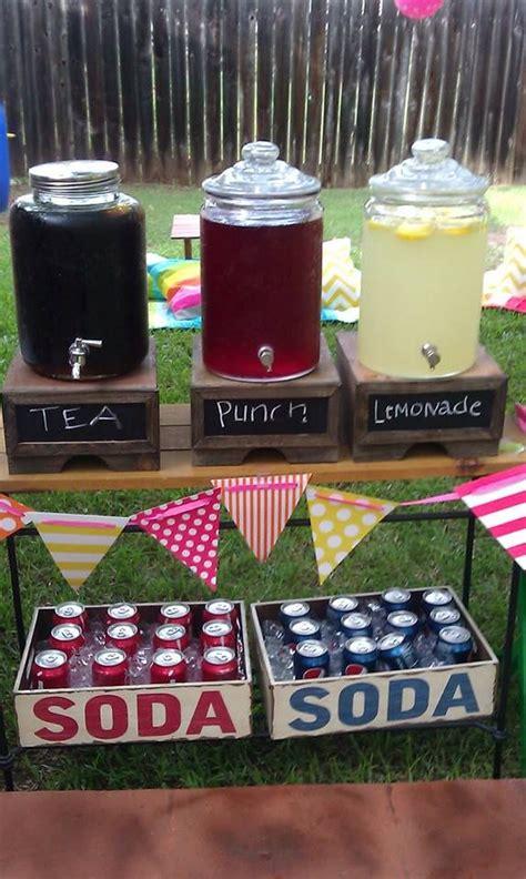 party themes yahoo drink set up at grad party cute idea i like the