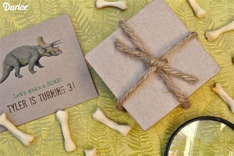 Handmade Birthday Invites - dinosaur birthday invitations tutorial live craft