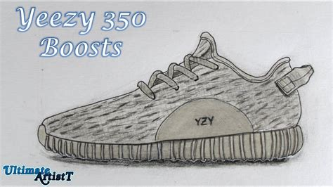 How To Draw Yeezy Boost 350 realistic shoes quot yeezy 350 boosts quot speed drawing