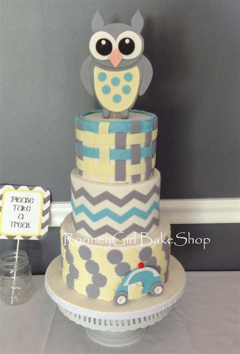 Owl Baby Shower Cakes For A by Owl Baby Shower Cake Cakecentral