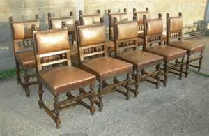 Antique furniture warehouse antique set 10 oak chairs 17th century style 17th century