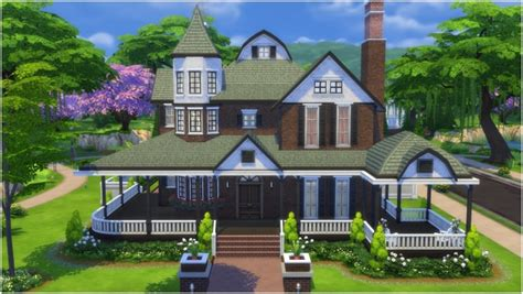 mod the sims the modern victorian red victorian house by carldillynson at mod the sims