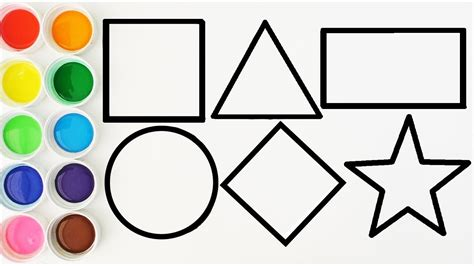 dibujos para colorear con figuras geométricas dibuja y colorea las figuras geometricas videos para