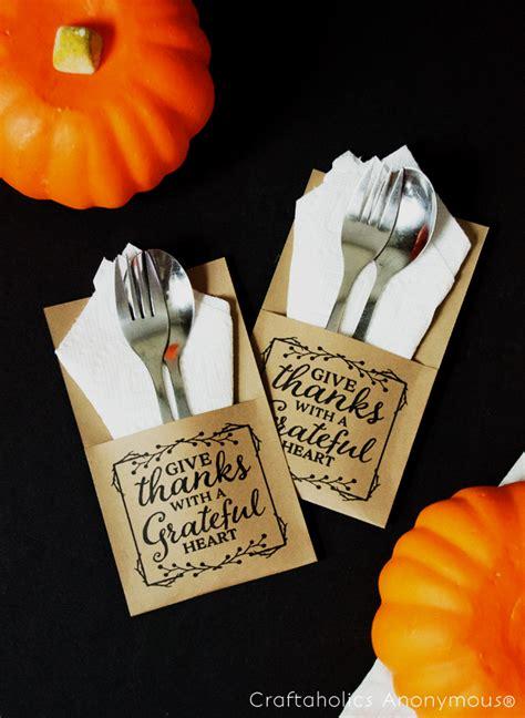 printable christmas utensil holders thanksgiving free printable quote utensil holder kraft