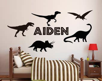 dinosaur wall decals for rooms dinosaur wall decal etsy