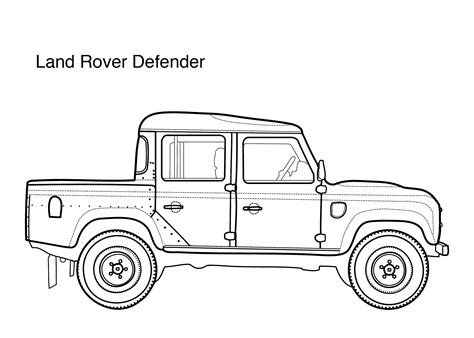 cars land coloring pages car coloring pages for land rover defender printable