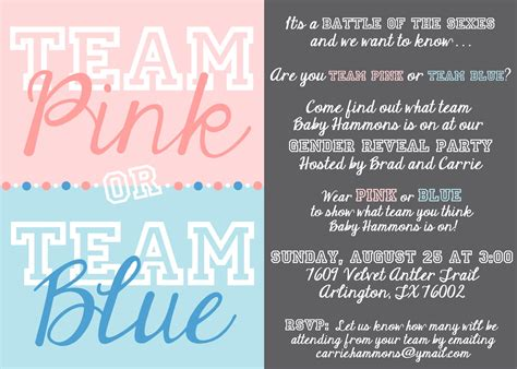 gender reveal card template gender reveal invitations templates