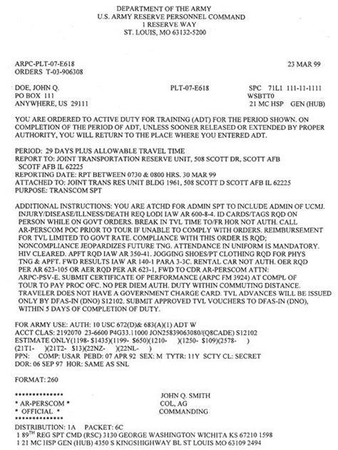 basic deployment orderletter deployment order letter lettering
