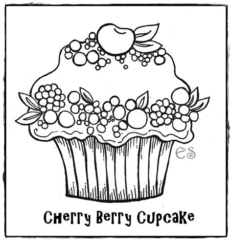 coloring page of a cupcake coloring page az coloring pages