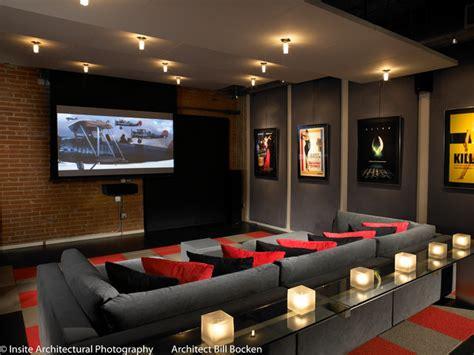 hillcrest urban loft modern home theater san diego  bill bocken architecture