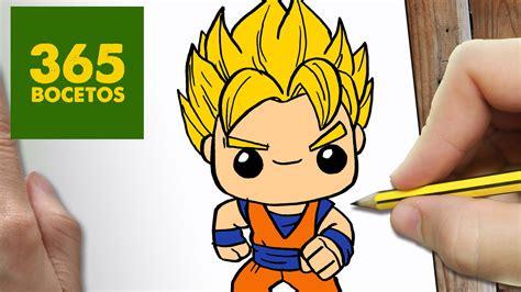 imagenes kawaii de dragon ball z como dibujar goku kawaii paso a paso dibujos kawaii