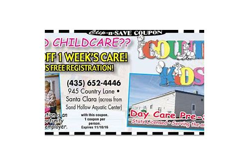 child day care coupons