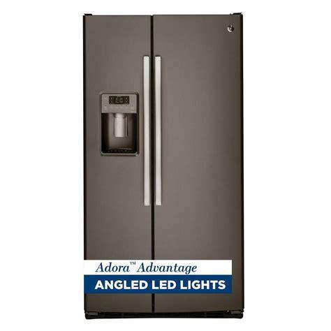 ge slate refrigerator ge adora 25 4 cu ft side by side refrigerator in slate
