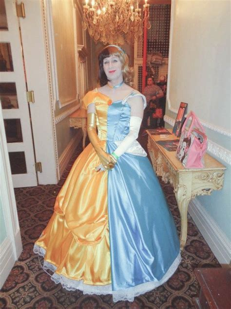 Disney?s Two Face: A Split Cinderella/Belle Cosplay   Neatorama