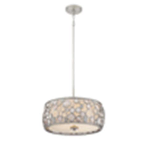 Style Selections Pendant Light Shop Style Selections Fairgate 18 In W Silver Pendant Light With Fabric Shade At Lowes