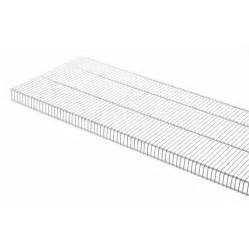 rubbermaid shelving lowes shop rubbermaid tightmesh 6 ft l x 16 in d white wire