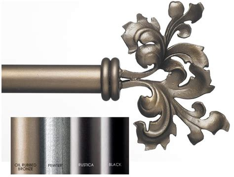 custom iron curtain rods custom 1 5 quot estate iron curtain rod in 4 finishes double