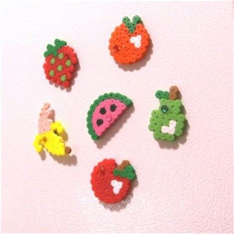 perler watermelon fruits magnets sprites and