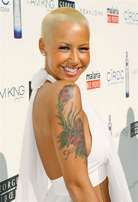 20 superb amber rose tattoo collection creativefan
