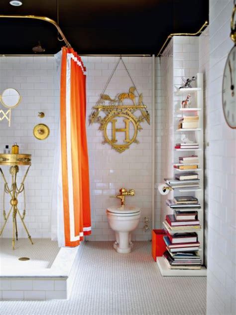 small orange bathroom decor ideas
