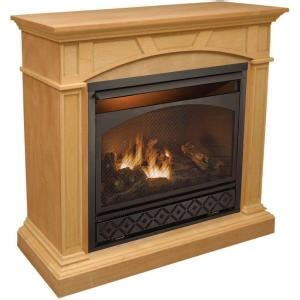 procom 47 in. vent free propane gas fireplace in