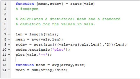 include matlab code in models that generate embeddable c
