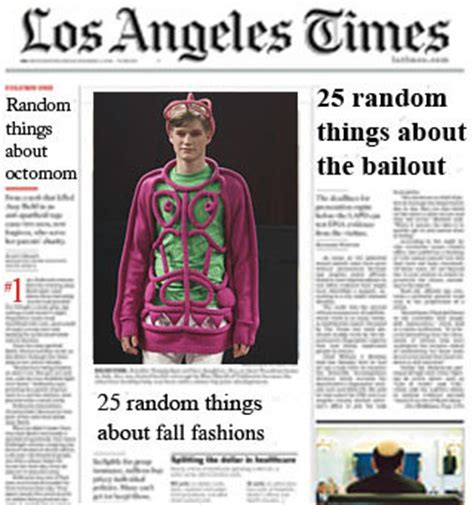 la times sports section 25 random things mania