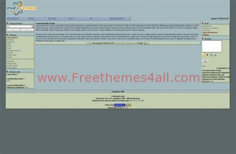 simple php templates free free php fusion simple blue theme template