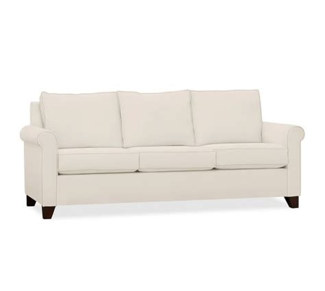 cameron roll arm upholstered sleeper sofa pottery barn