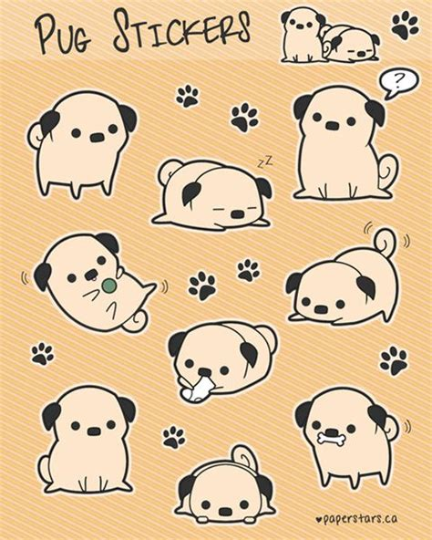 sticker doodle draw 40 best images about pug stuff on