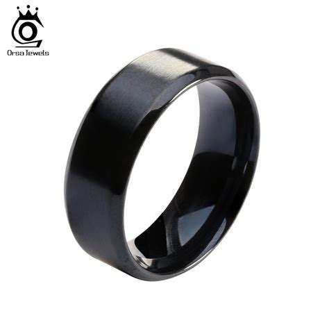 2016 new fashion titanium steel ring high quality black
