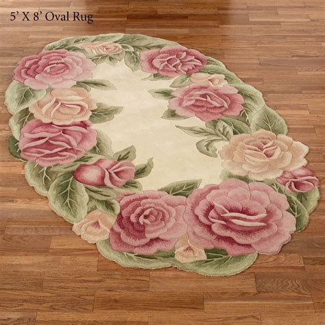 roses rug nouveau sculpted floral oval rugs