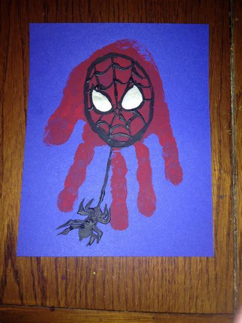 spiderman handprint art handprint art footprint crafts